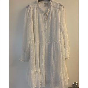 H&M babydoll off white dress